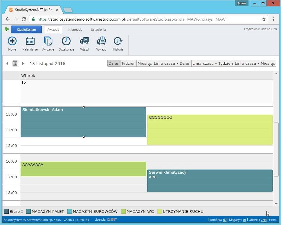oprogramowanie-awizacje-kalendarz-dzienny