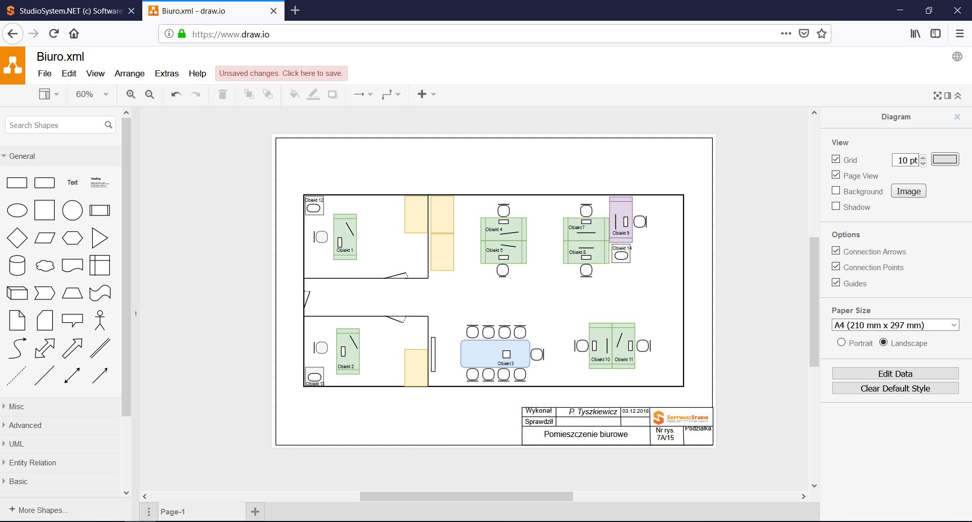 Schemat w CMMS.net